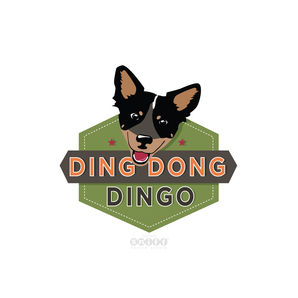 Ding Dong Dingo Dog Training - Pet Business Logo Design by Sniff Design