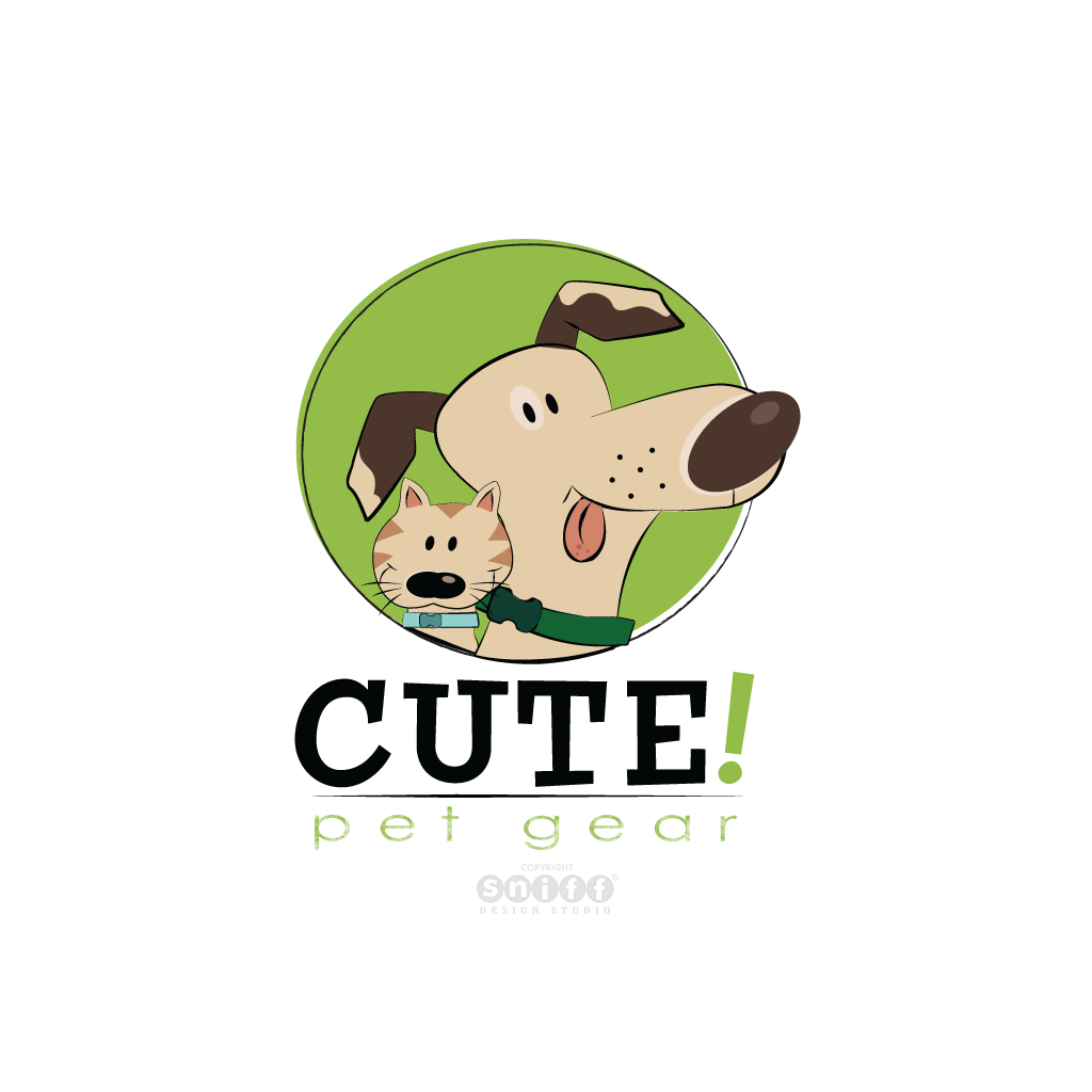 Cute Pet Gear - Pet Fashion Business Logo Design by Sniff Design Studio