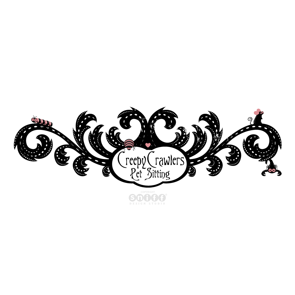 Creepy Crawlers Pet Sitting - Pet Business Logo Design by Sniff Design Studio.