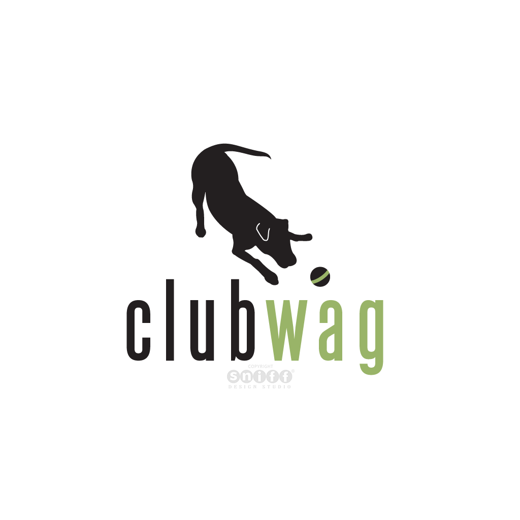 Club Wag - Pet Business Logo Design by Sniff Design Studio.