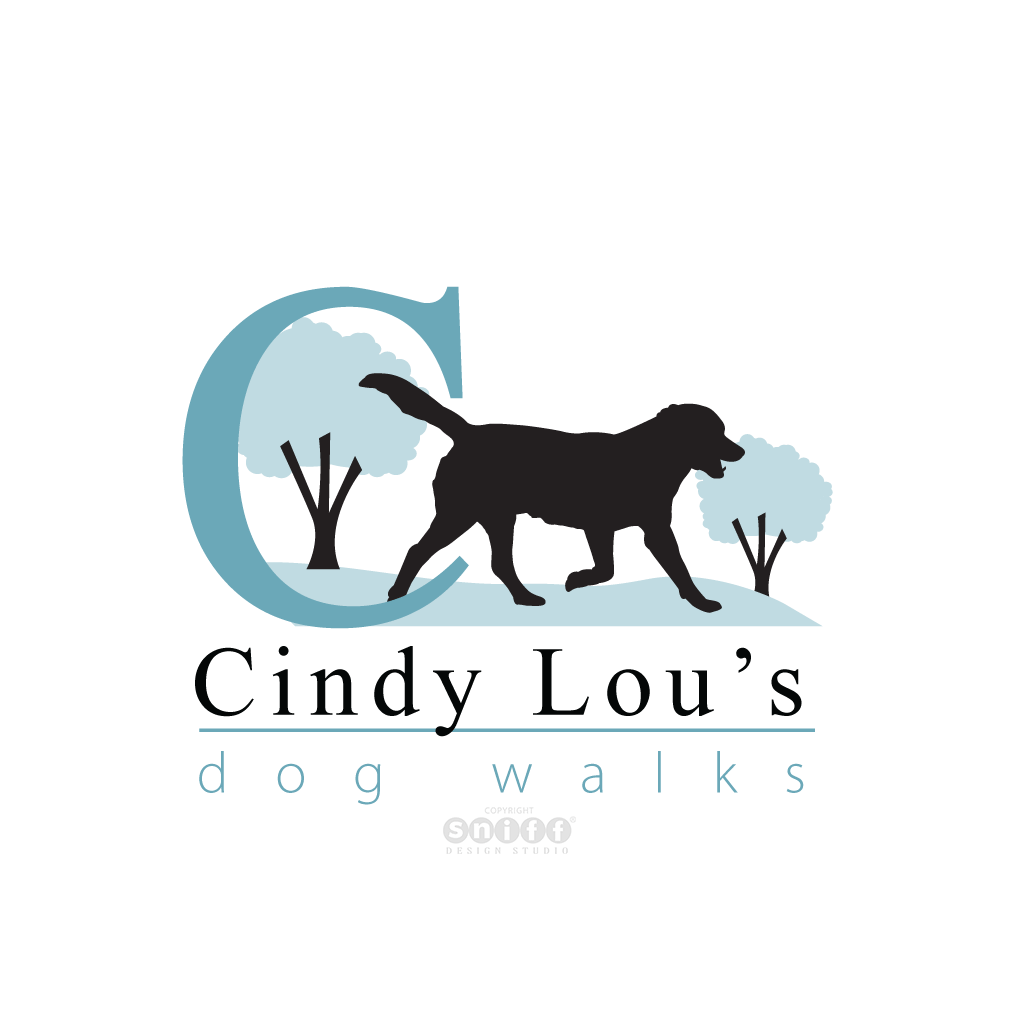 Cindy Lou's Dog Walkgs - Pet Business Logo Design