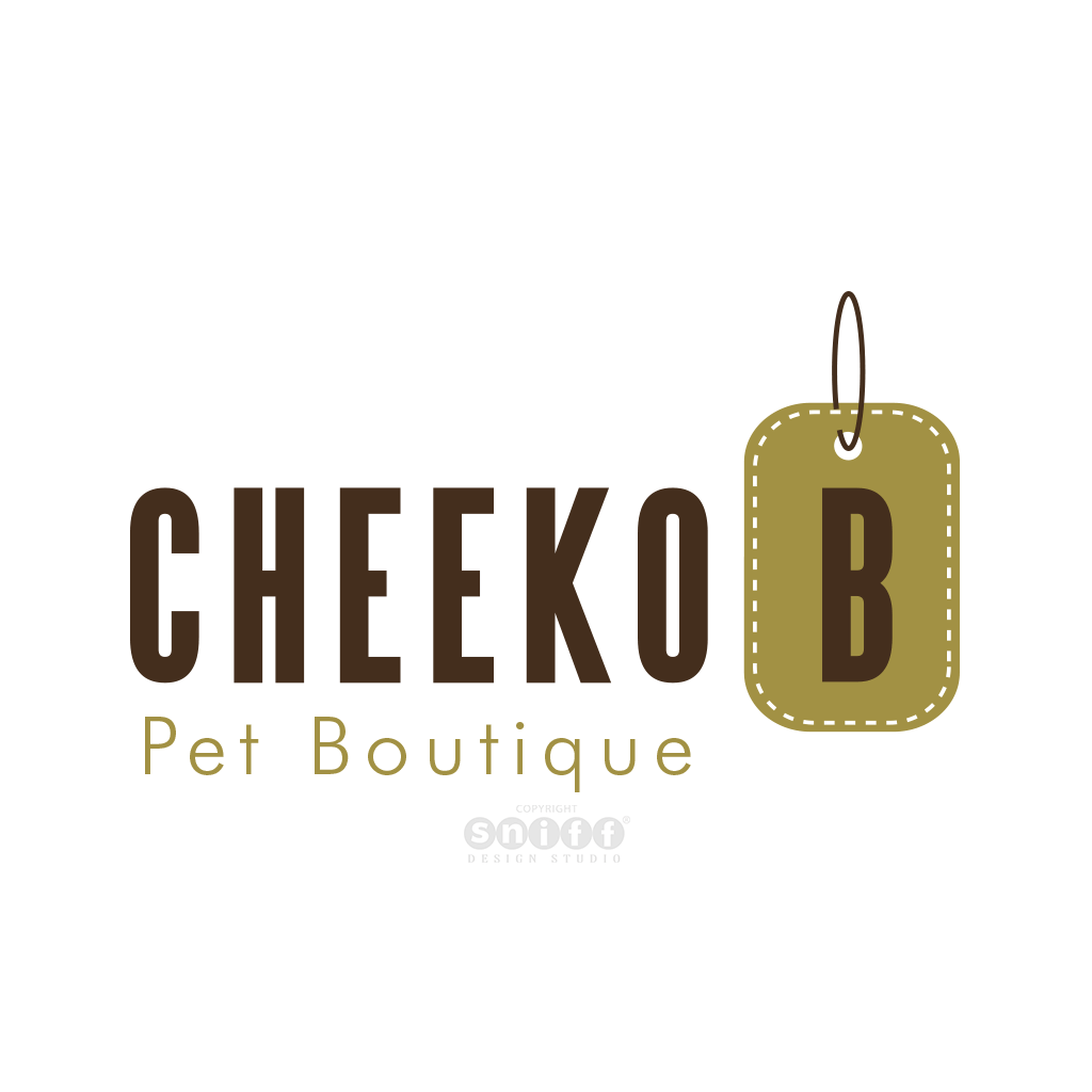 Cheeko B Pet Boutique - Pet Business Logo Design by Sniff Design Studio.