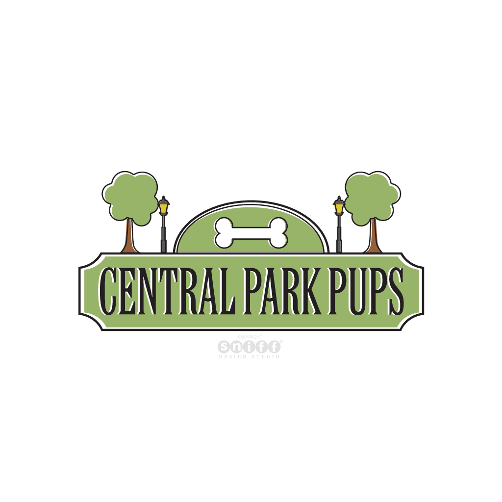 Central Park Pups - Pet Fashion Business Logo Design