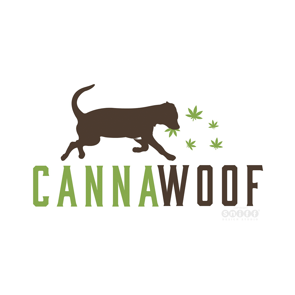 Canna Woof - Pet Business Logo Design by Sniff Design Studio, an award winning pet branding agency