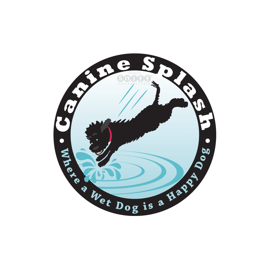 Canine Splash - Pet Business Logo Design by Sniff Design