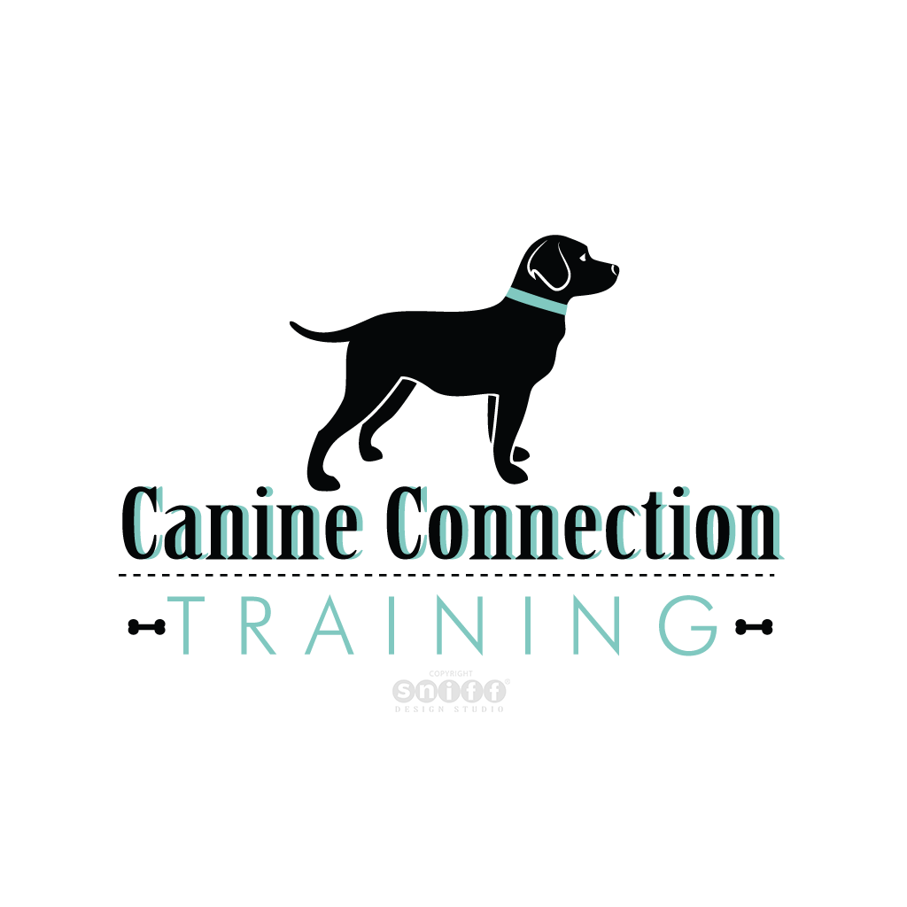 Canine Connection Dog Training - Pet Business Logo Design by Sniff Design Studio.