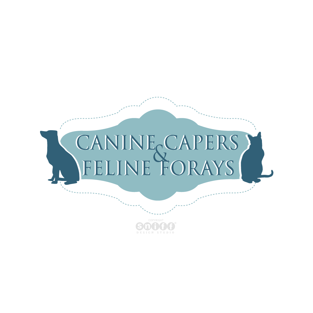 Canine Capers and Feline Forays Pet Sitting - Pet Business Logo Design by Sniff Design Studio.
