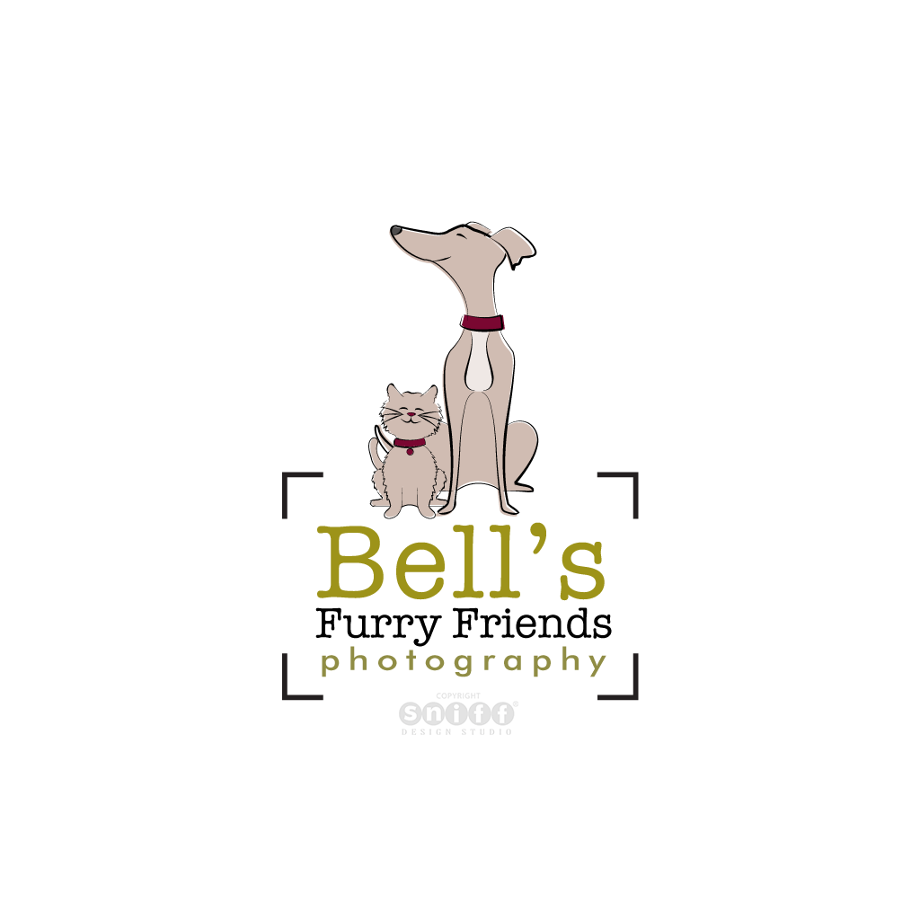 Bell's Furry Friends Photography - Pet Business Logo Design by Sniff Design Studio.