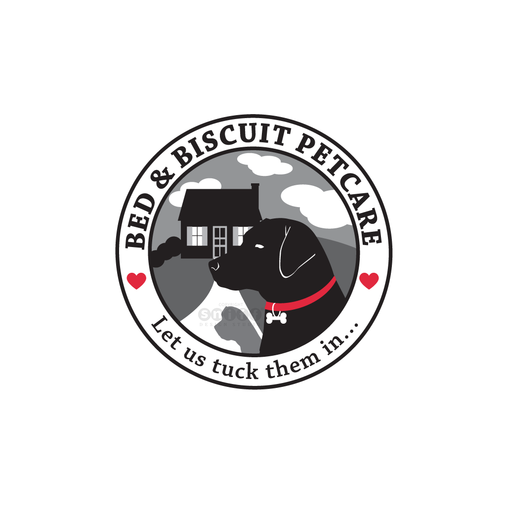 Bed & Biscuit Pet Care - Pet Business Logo Design by Sniff Design