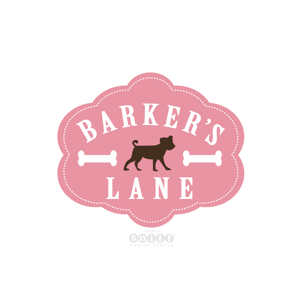 Barker's Lane - Pet Grooming & Pet Boutique - Pet Business Logo Design by Sniff Design Studio.