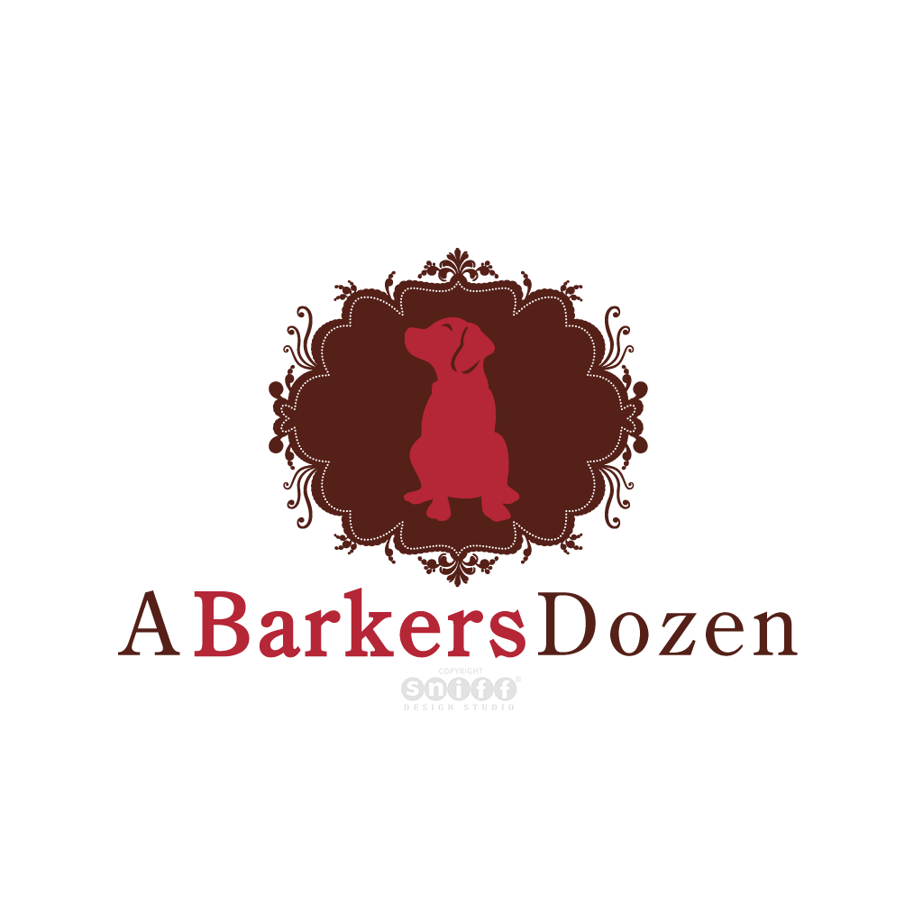 A Barkers Dozen - Dog Treat Bakery - Pet Business Logo Design by Sniff Design Studio