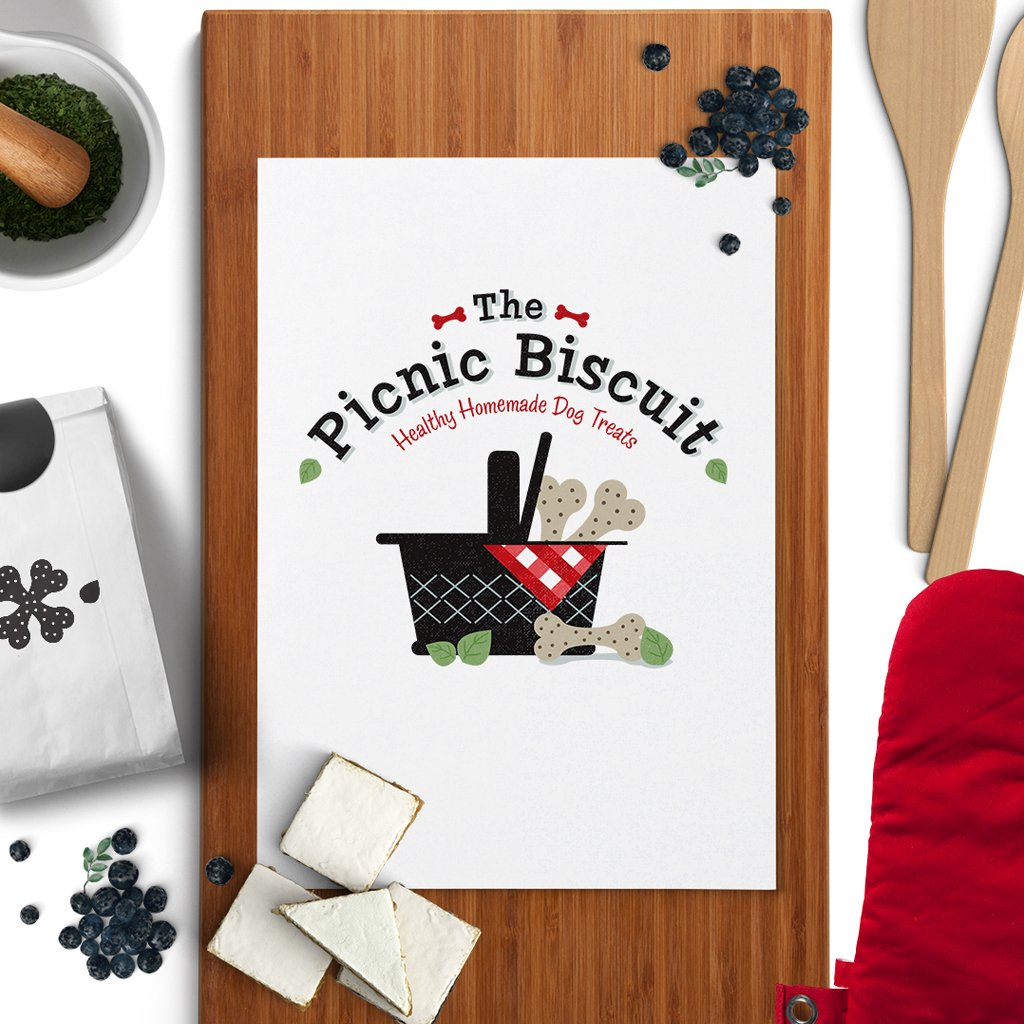 The Picnic Biscuit Pet Bakery Logo Design Pet Business Branding Imagery by Sniff Design Studio