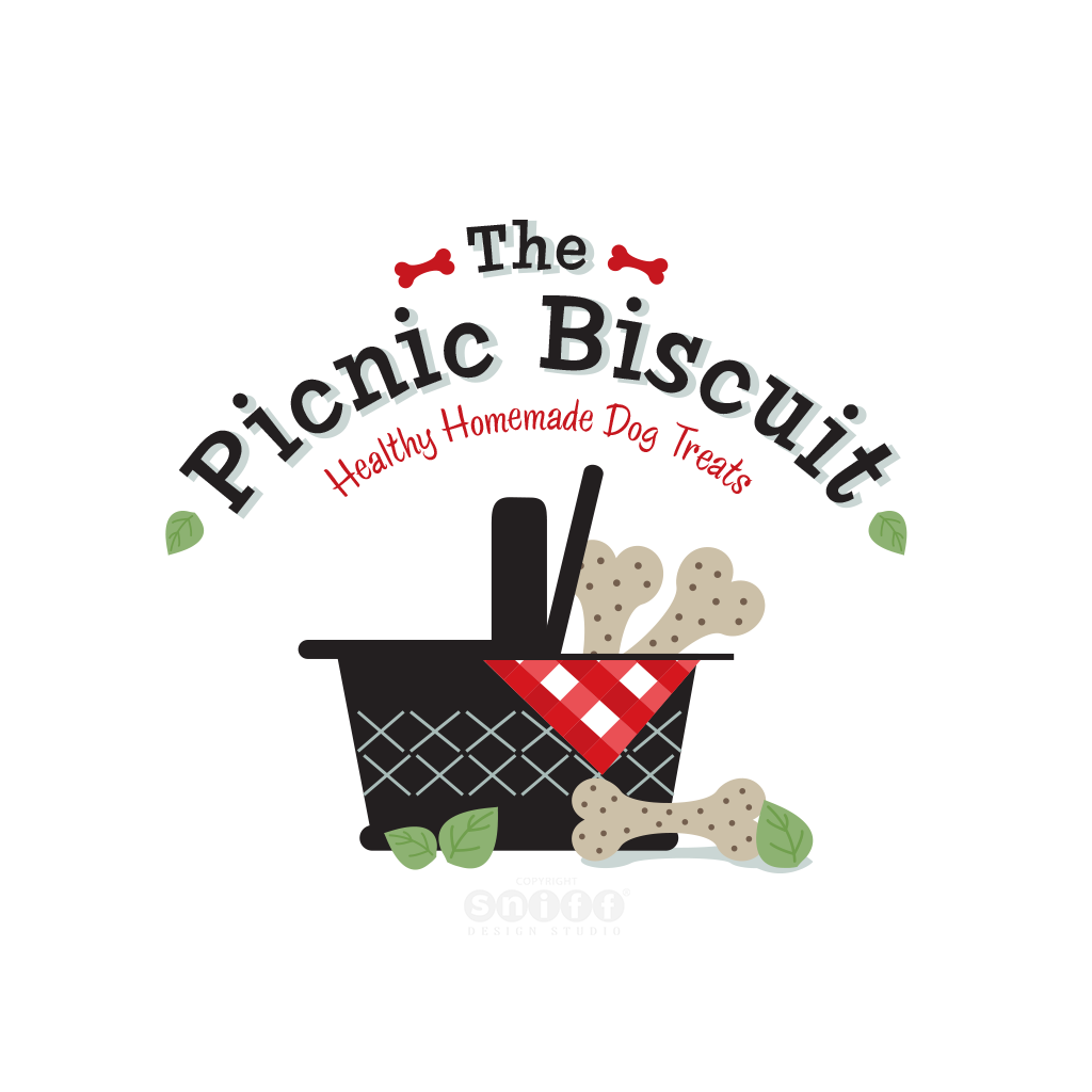 The Picnic Biscuit Pet Bakery - Pet Business Logo Design by Sniff Design Studio