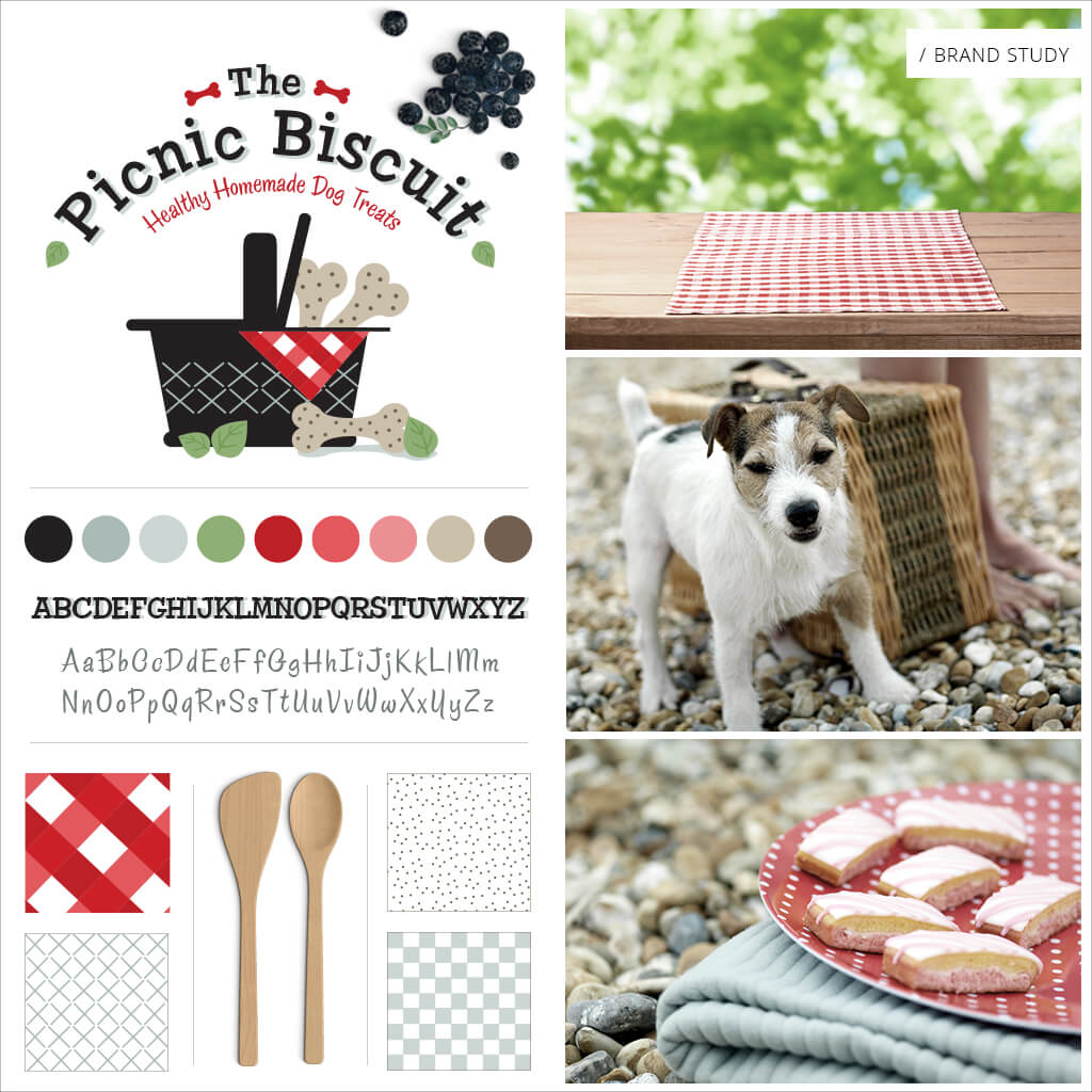 The Picnic Biscuit Pet Bakery Pet Business Brand Study / Mood Board by Sniff Design Studio