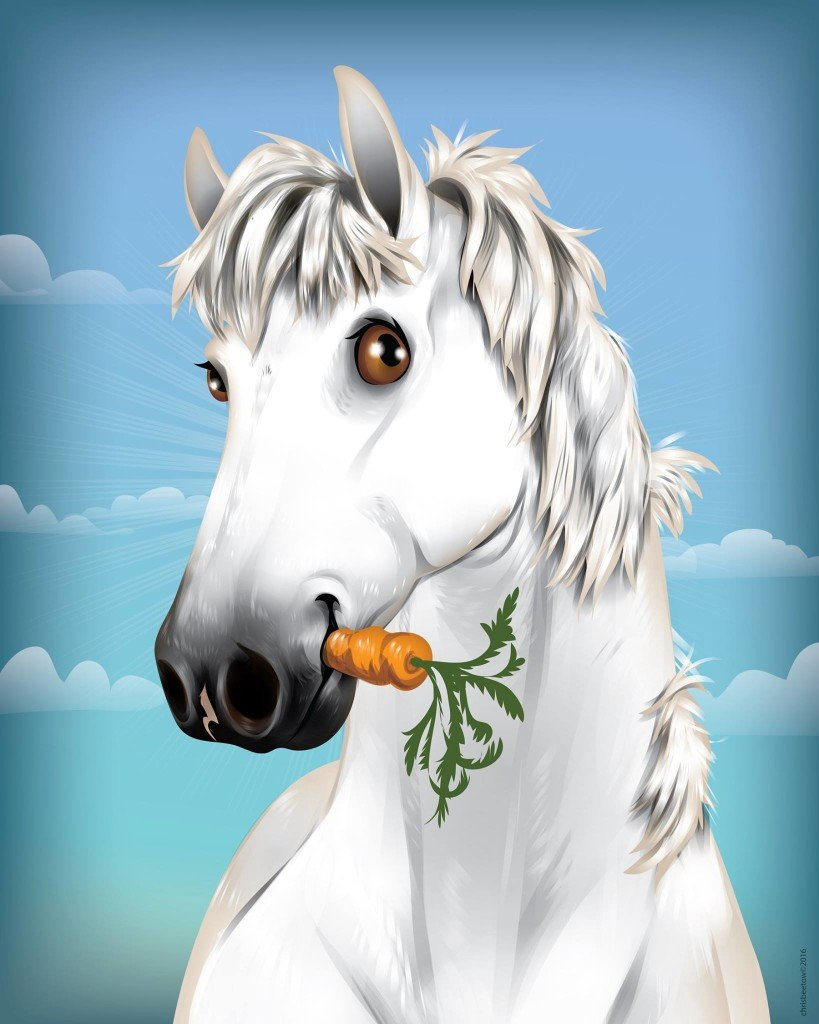 Horse & Carrot by Chris Beetow
