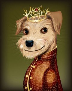 Doggy King Joffrey of Game of Thrones by Chris Beetow