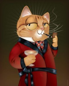 Classy Catty Cat by Chris Beetow