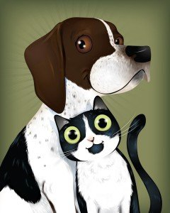 BFF Forever - Doxie & Kitty by Chris Beetow