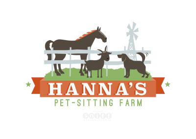 Hanna's Pet Sitting Farm Logo Design & Branding