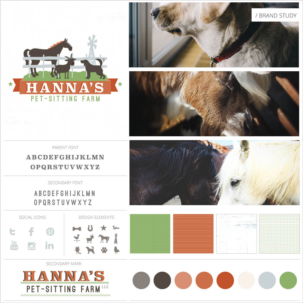 Hanna's Pet Sitting Farm Pet Business Brand Study