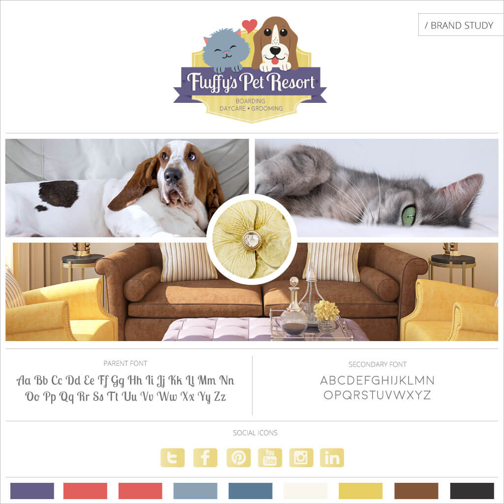 Fluffys Pet Resort - Pet Business Brand Study by Sniff Design Studio
