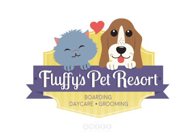 Fluffy's Pet Resort Logo Design
