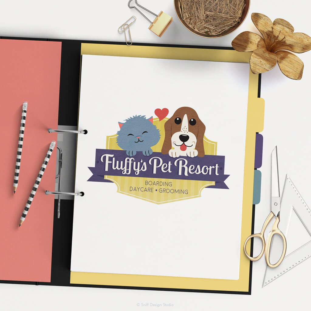 Fluffys Pet Resort - Pet Business Logo Design Showcase 2 by Sniff Design Studio