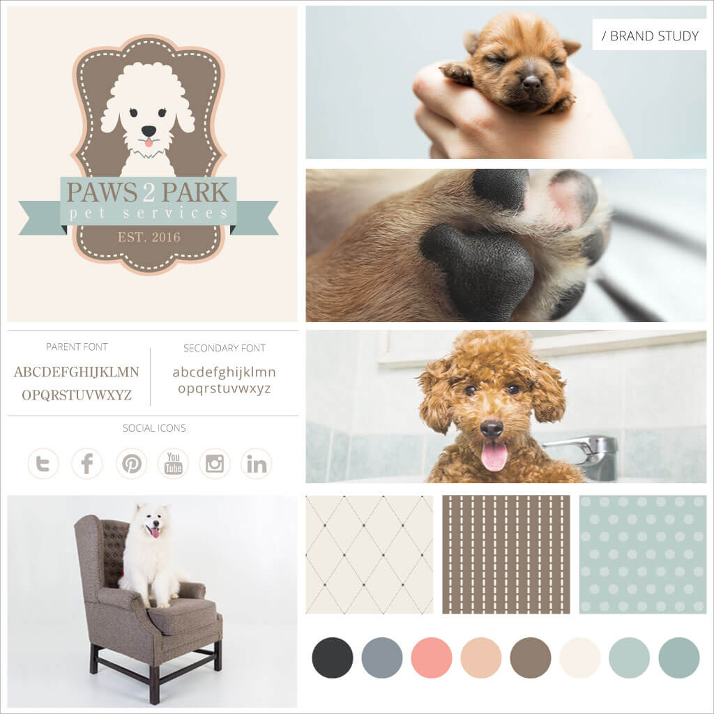 Paws 2 Park Pet Services - Pet Business Brand Study by Sniff Design Studio