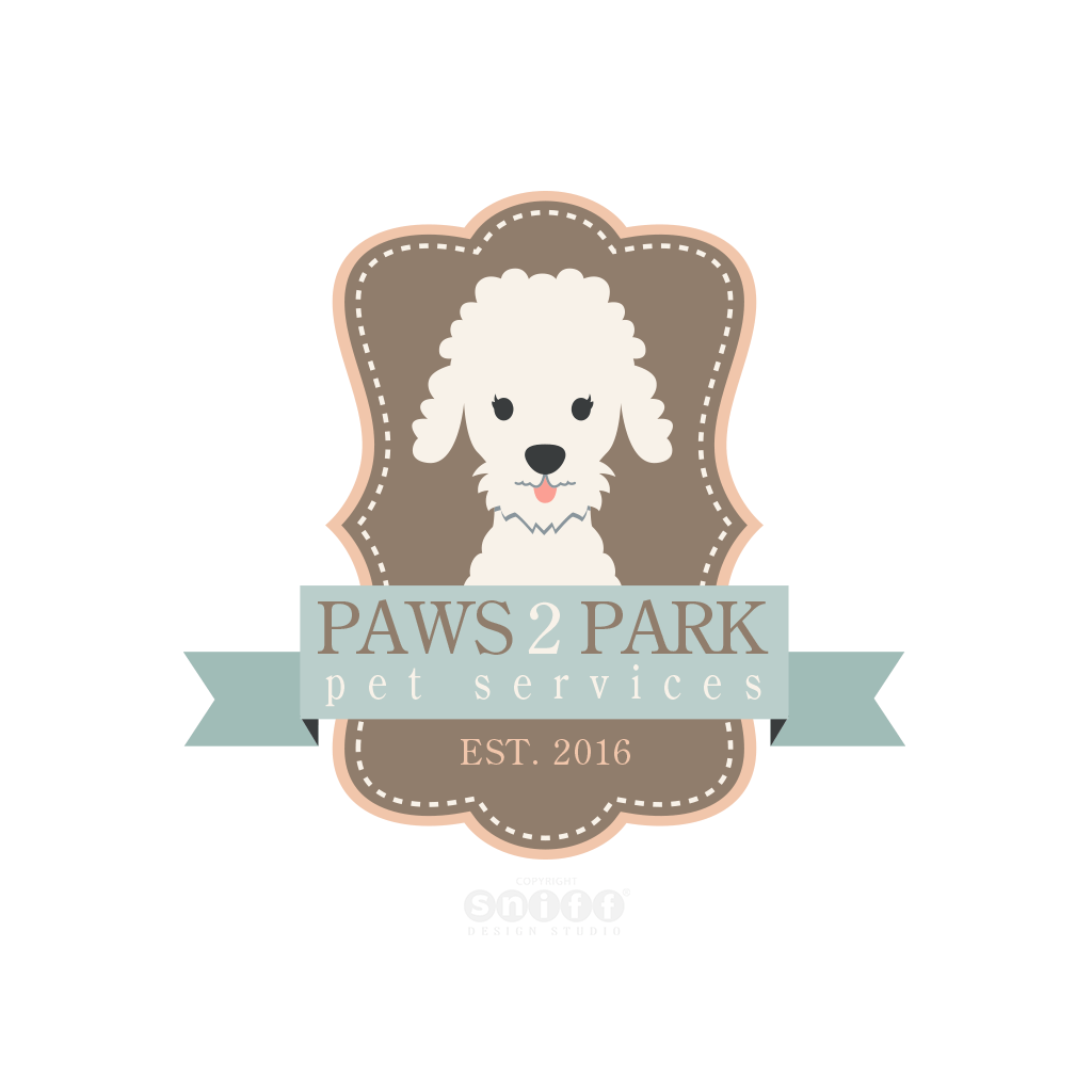 Paws 2 Park Pet Services - Custom Pet Business Logo Design by Sniff Design Studio