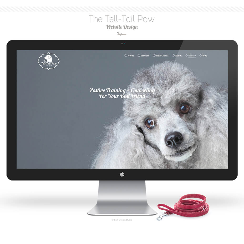 The Tell Tail Paw Dog Training Bakery Website Design Showcase Image 2