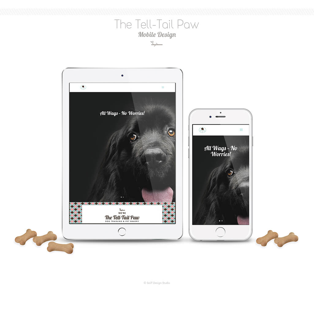 The Tell Tail Paw Dog Training Bakery Mobile Web Site Design