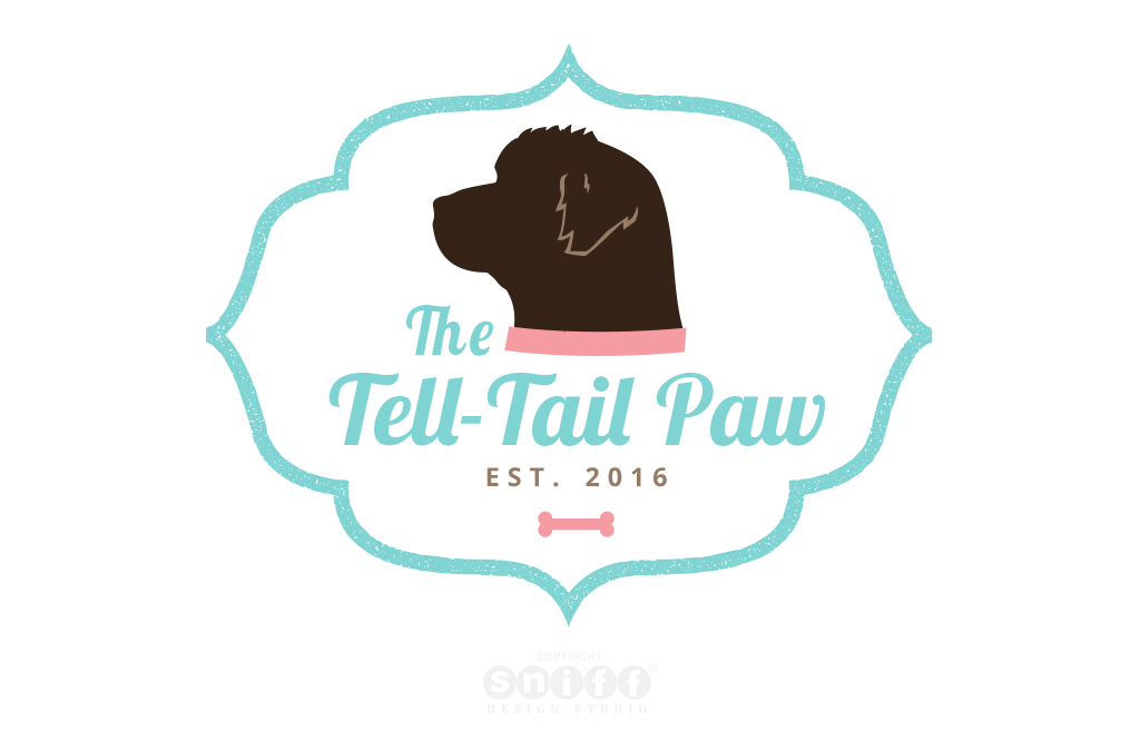 The Tell-Tail Paw Dog Training & Bakery Logo and Website Design