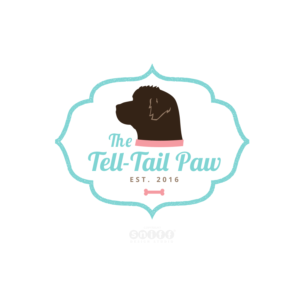 The Tell Tail Paw Dog Training and Bakery Logo Design