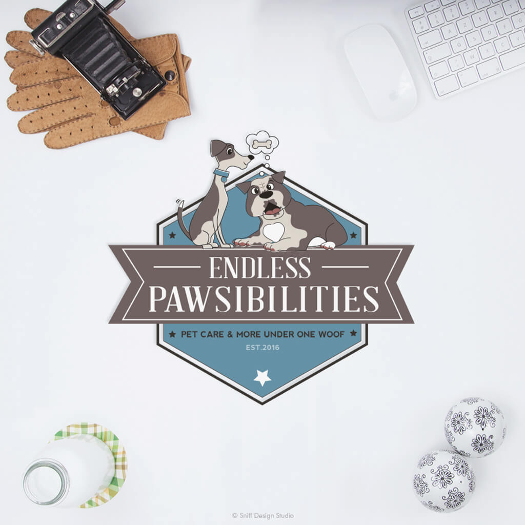 Endless Pawsibilities Pet Care Primary Logo Design