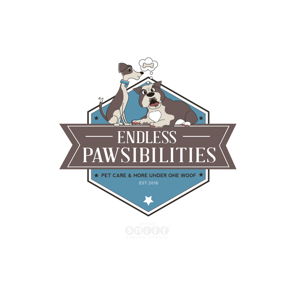 Endless Pawsibilities Pet Care Logo Design