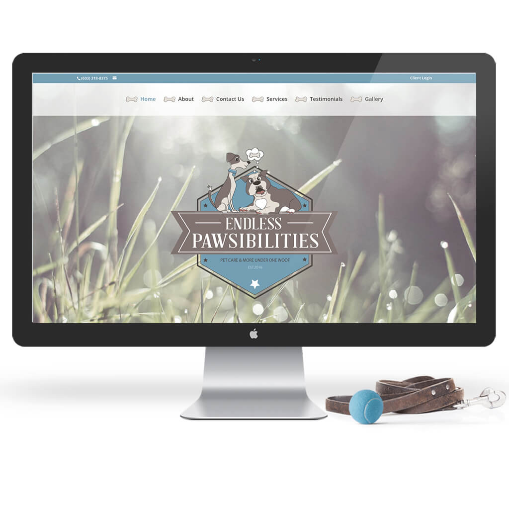 Endless Pawsibilities dog training website design