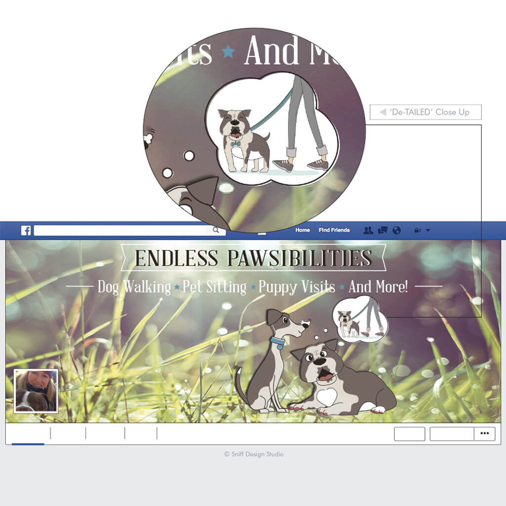 Endless Pawsibilities Dog Training Custom Cover Facebook Page Design
