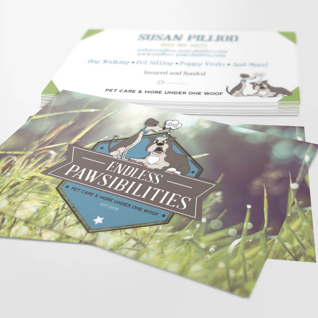 Endless Pawsibilities Dog Training Business Card Design