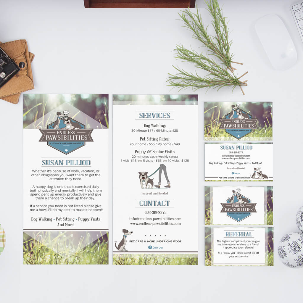 Endless Pawsibilities Dog Training Company Collateral Design