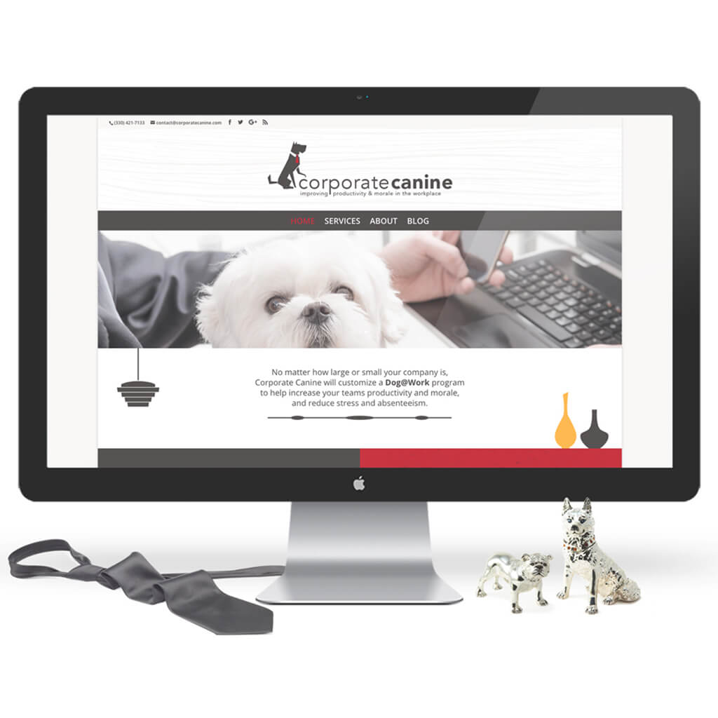 The Corporate Canine Pet Business Web Site Design