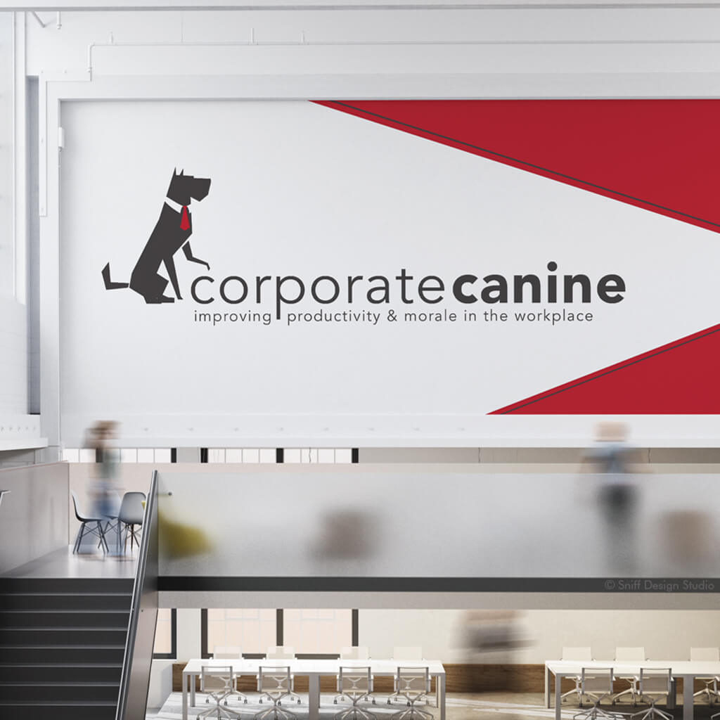 The Corporate Canine Dog Business Logo Design Showcase for Office Mockup