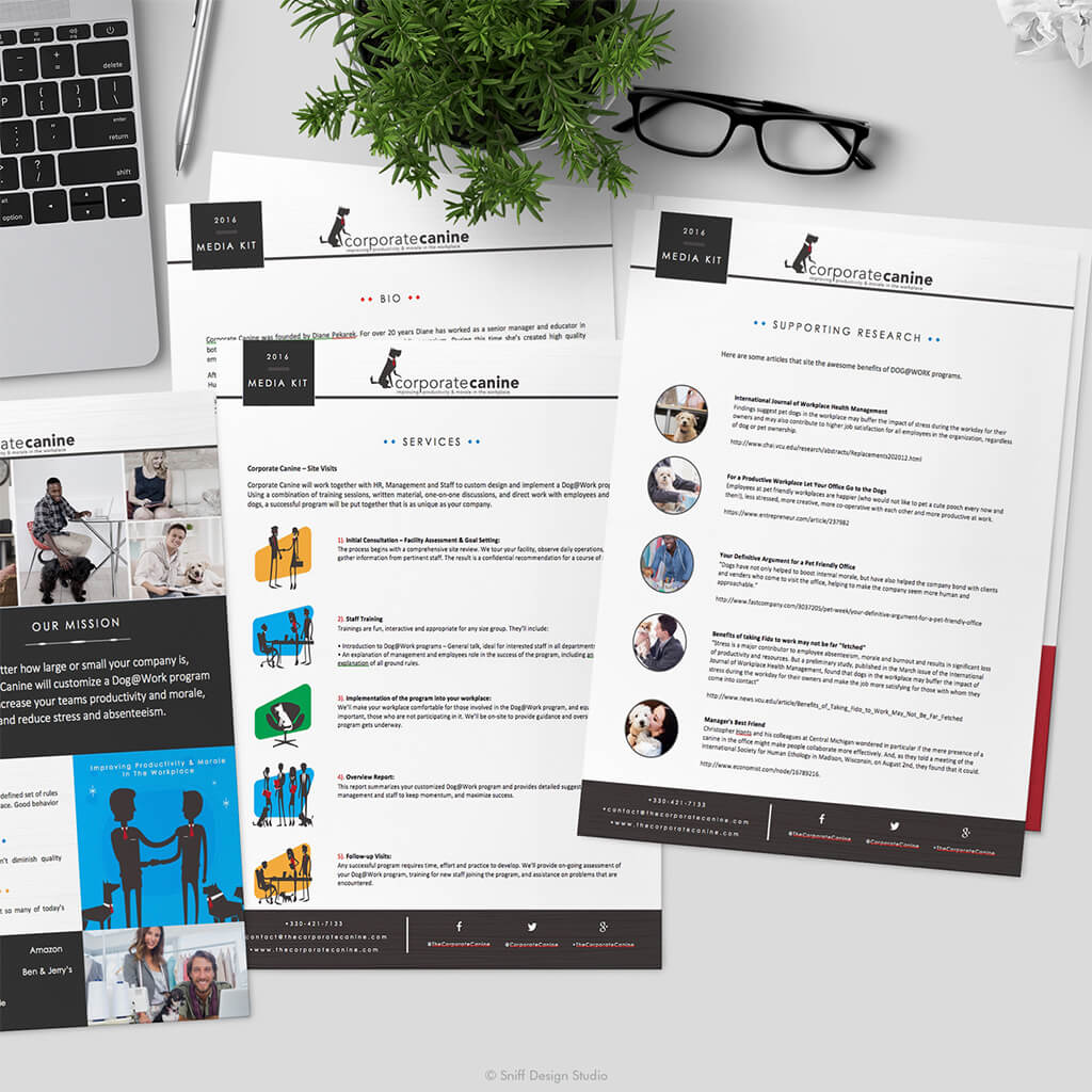 The Corporate Canine 2016 Pet Business Media Kit Design - Showcase Image 4