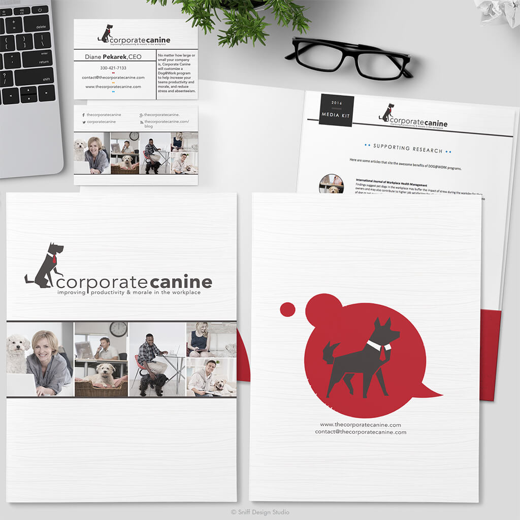 The Corporate Canine 2016 Pet Business Media Kit Design - Showcase Image 1