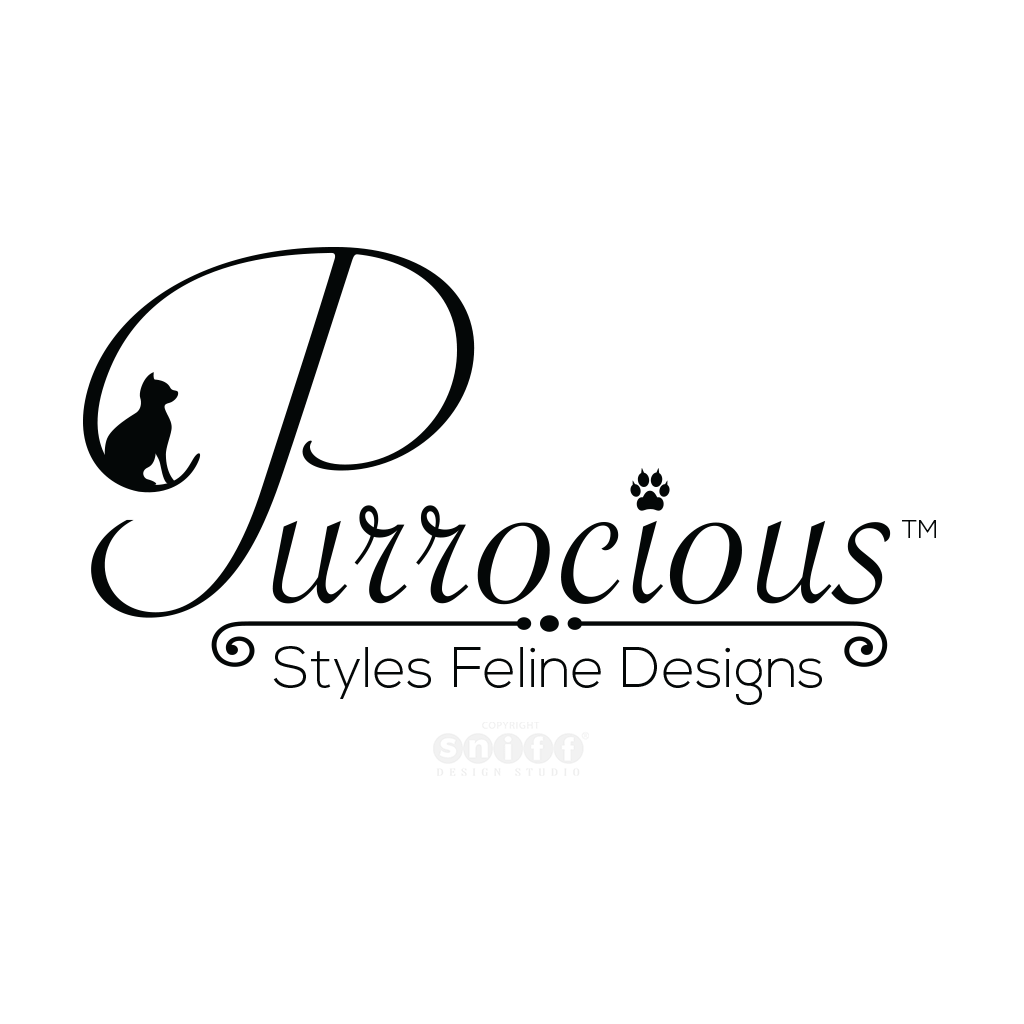 Purrocious Cat Grooming Pet Business Logo Design