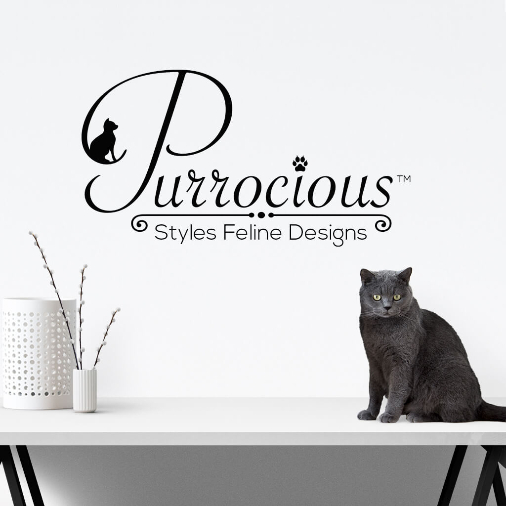 Purrocious Cat Grooming Pet Business Logo Design Showcase Image 2