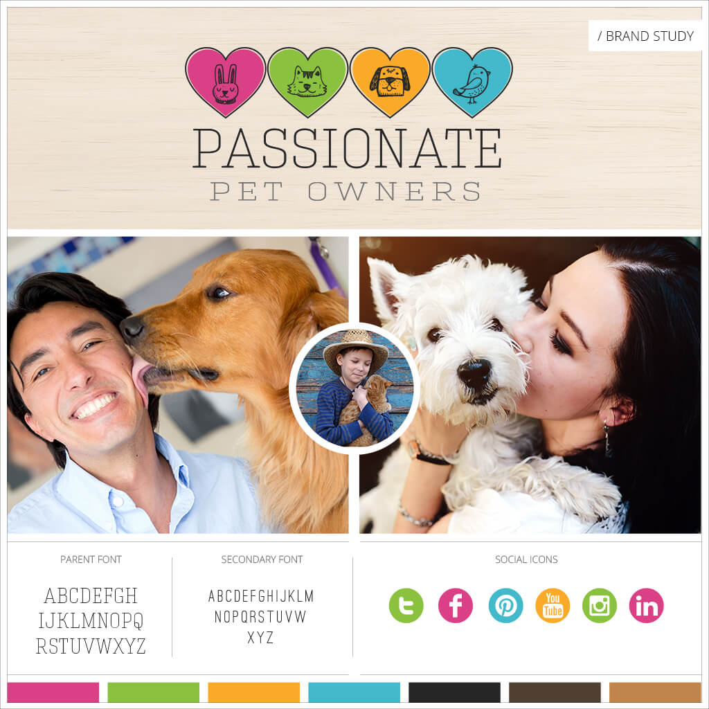 Passionate Pet Owners Pet Business Brand Study by Sniff Design Studio