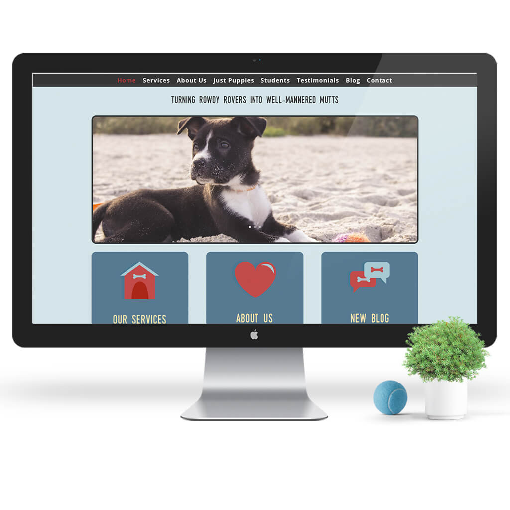 Manners For Mutts Dog Training Web Site Design by Sniff Design Studio