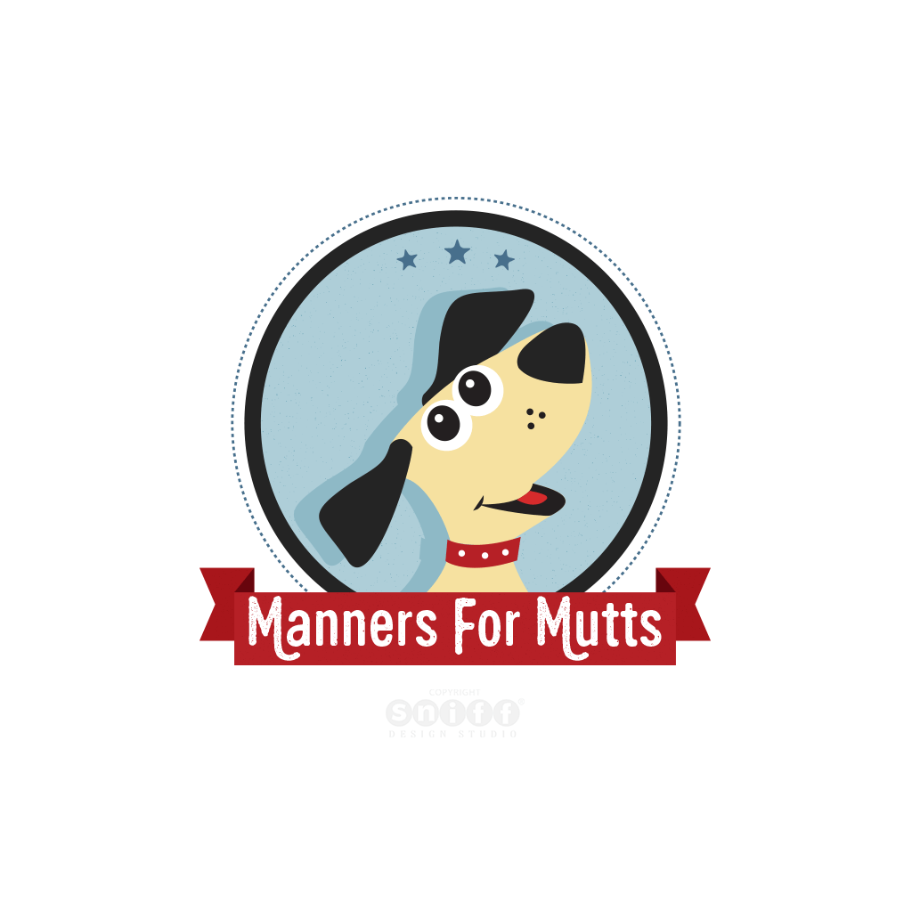 Manners For Mutts dog training pet business original branding and web site design by Sniff Design Studio