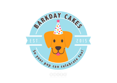 Barkday Cakes Logo Design