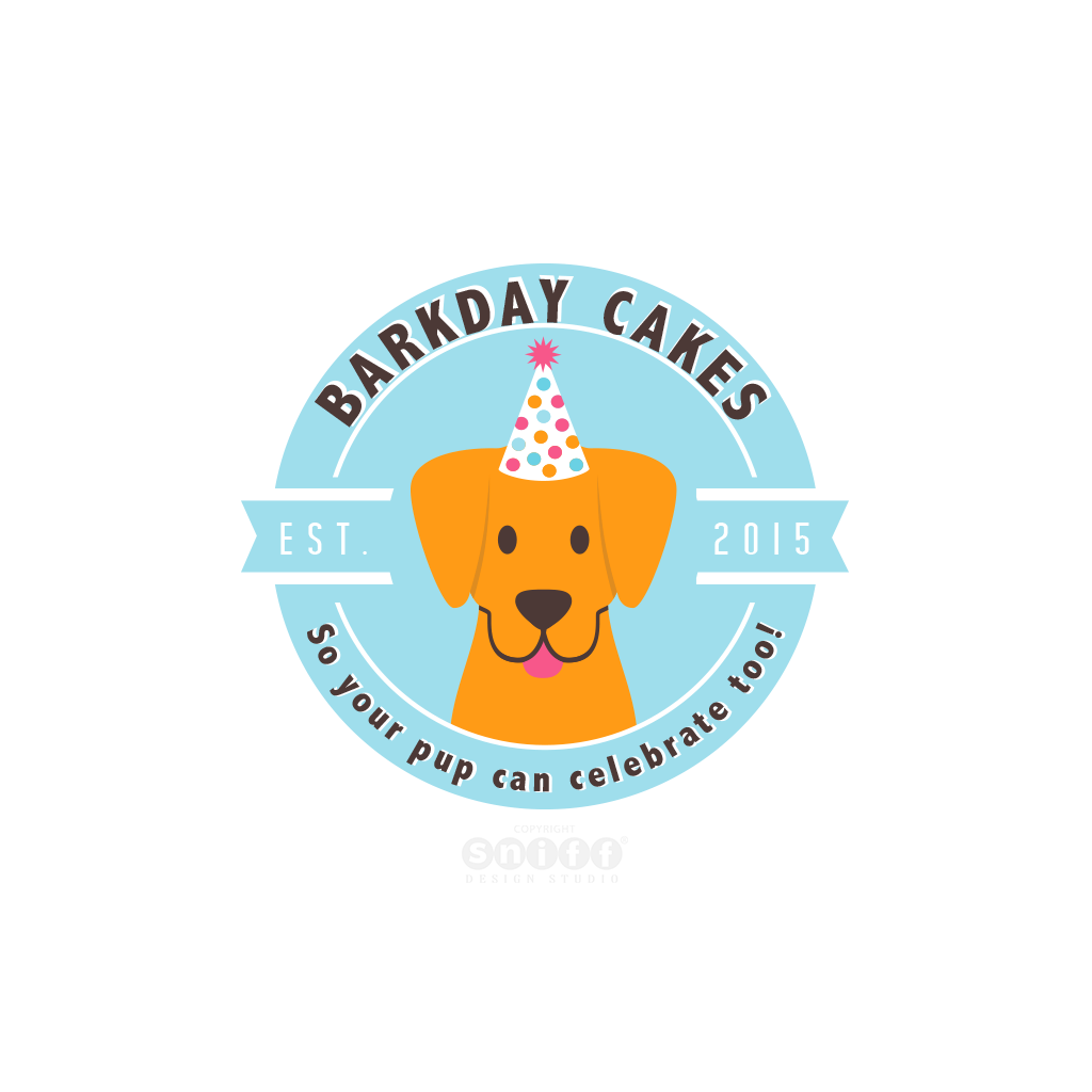 Barkday Cakes Pet Business Logo Design